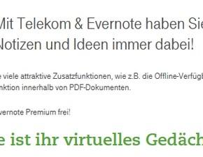 Telekom: Evernote Premium 365 Tage kostenlos