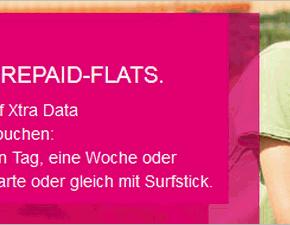 Xtra Data Flat: Telekom startet 3 neue Prepaid-Daten-Flatrates