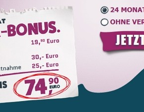 Yourfone Oster-Bonus mit bis zu 74,90 € Rabatt