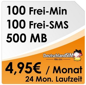 DeutschlandSIM ALL-IN 100 im O2-Netz am Freitag