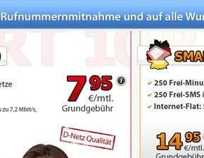 DeutschlandSIM Rufnummermitnahme: 20 € Bonus