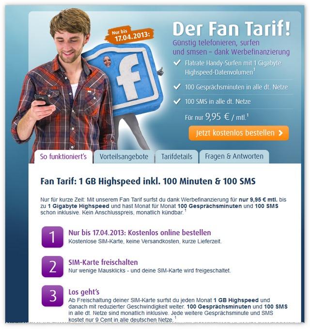 Netzclub Fan-Tarif direkt online bestellen