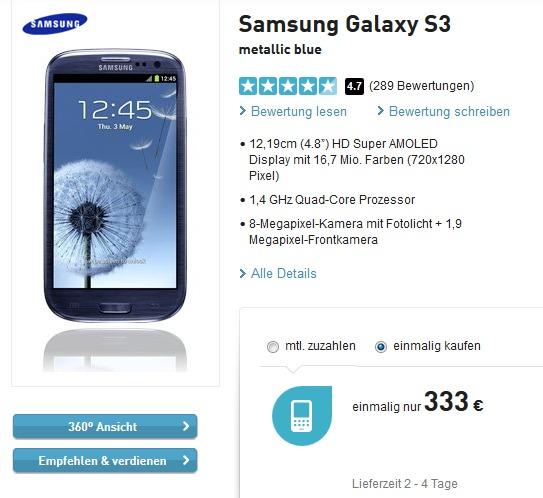 Samsung Galaxy S3 bei BASE