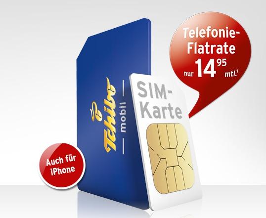 Neue Tchibo-mobil-Aktion: Prepaid-Allnet-Flat für 14,95 €