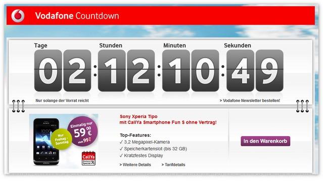 CallYa Weekend Special: Der Countdown läuft für das Sony Xperia tipo