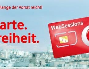 Vodafone WebSessions Prepaid-Freikarte