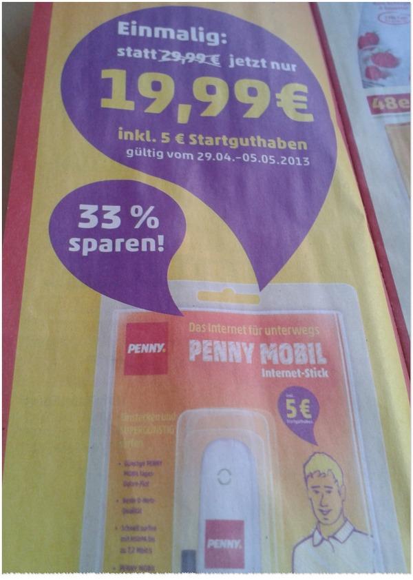 Penny mobil Surfstick bis 5. Mai 2013 günstiger