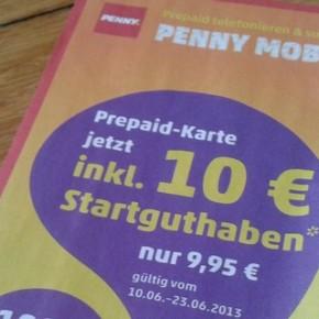 Penny Mobil mit 10 € Startguthaben