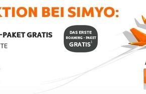Simyo Sommeraktion mit 10 € Guthaben und gratis Roaming-Paket