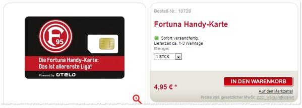 Fortuna-SIM-Karte bestellen
