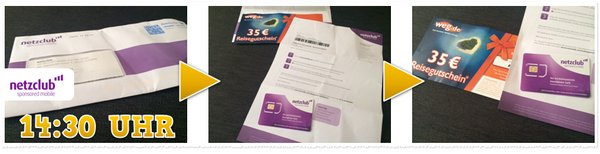 netzclub SIM Karte eingetroffen