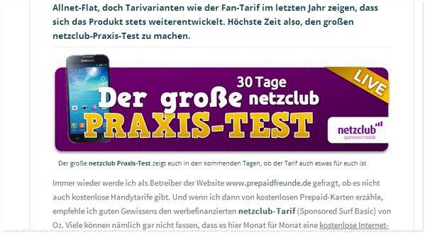 netzclub-Testbericht bei Allnet-Flatrate-Vergleich.net