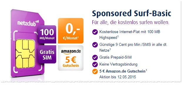 netzclub mit Amazon-Gutschein