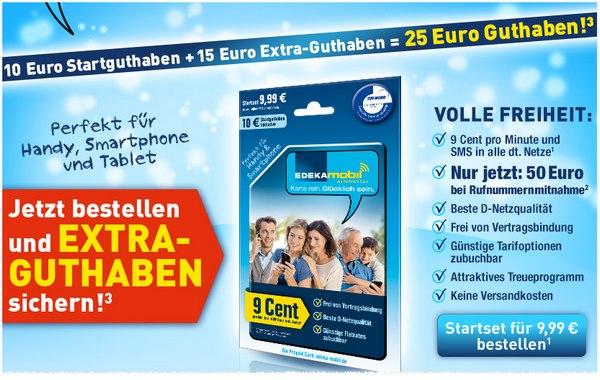 Die Rufnummernmitnahme bei EDEKA mobil wird mit 50 € extra belohnt - 25 € gibt's ohnehin schon