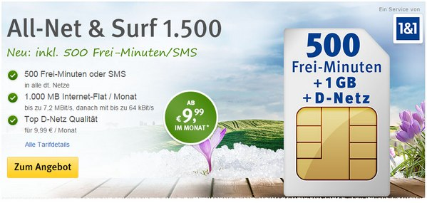 WEB.DE All-Net & Surf 1500 von 1&1