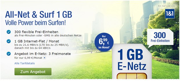 1&1 GMX All-Net & Surf LTE