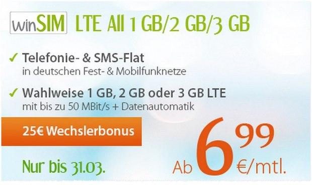WinSIM LTE All Handytarif